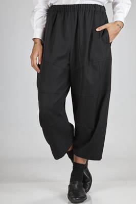 wide trousers in wool gabardine  - 48