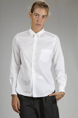 classic men shirt in cotton poplin  - 48