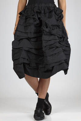 wide skirt in treated polyester techno cloth  - 157