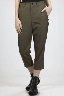ankle length trousers in colour-changing wool gabardine, cupro lined  - 157
