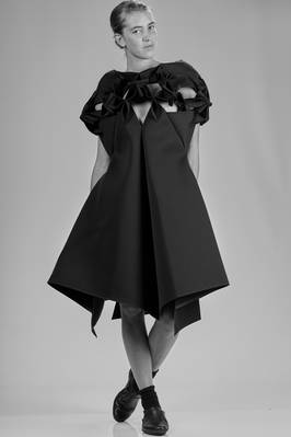 'sculpture' dress in double nylon neoprene  - 74