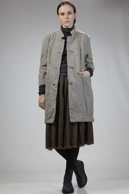 knee-length coat in barbed washed wool  - 195