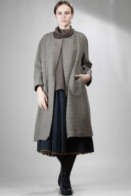 long coat in embroidered tweed-effect wool  - 195