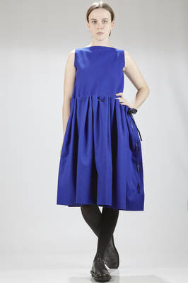 calf-length dress in felted wool cloth  - 195