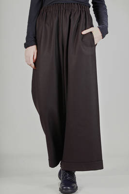 woven wool wide leg trousers  - 195