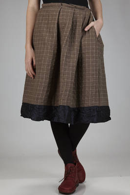 wide calf-length skirt in wool gauze, cashmere and cotton and silk liberty  - 195