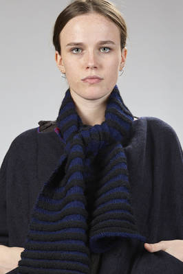 two-tone alpaca wool scarf with vertical stripes  - 195