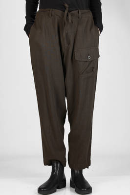 soft trousers in light washed wool fabric, lined in cupro  - 97