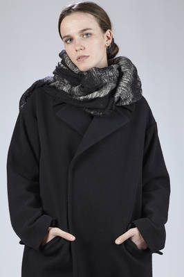 wide scarf in bicolor wool gauze  - 97