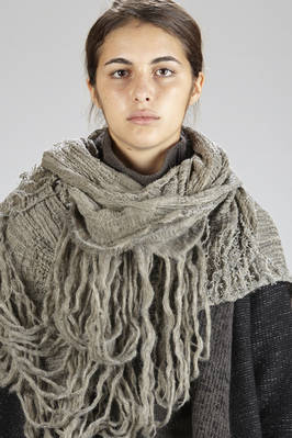 wide scarf with untidy weave of mohair wool, acrylic and nylon  - 161