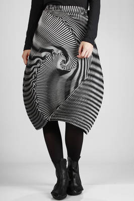 steam stretch pleated longuette skirt in triacetate, polyester and polyurethane, optical two-tone  - 47