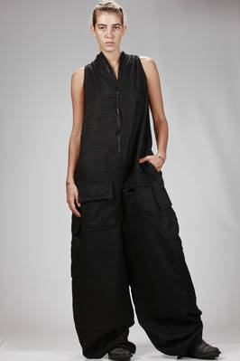 wide and very long dungarees in silk and wool gauze  - 120