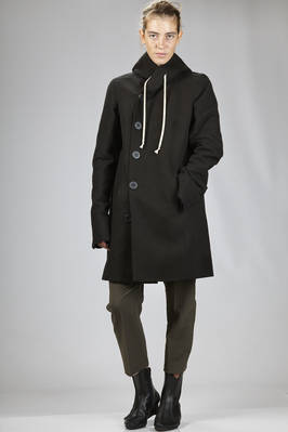 coat in cotton and silk moleskin, cupro lined  - 120