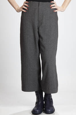 wide trousers in wool, linen, polyamide and cotton crêpe  - 292