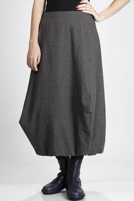 long skirt in wool, linen, polyamide and cotton crêpe  - 292