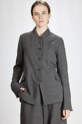 hip-length jacket in wool, linen, polyamide and cotton crêpe  - 292