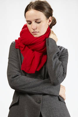 very wide scarf in very light elasticized cashmere gauze  - 292