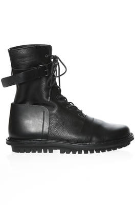 JACKIE high ankle combat boot in cowhide leather  - 51