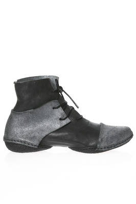 BASS ankle boot in nabuk treated cowhide leather with inverted parts  - 51