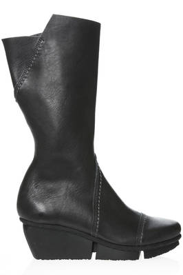 TOUR calf boot in smooth cowhide leather with external stitching  - 51