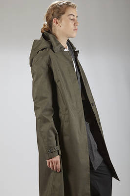 knee-length waterproof coat in recycled polyester cloth, lined in viscose and polyester cloth - NORWEGIAN RAIN - Bergen