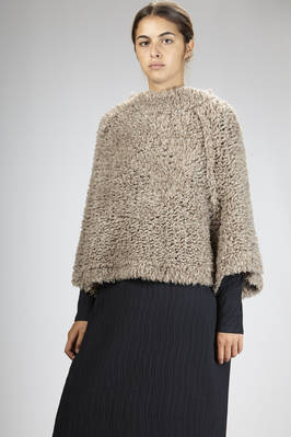 newest e3272 5063c CIVIDINI - Hip-Length Wide Sweater In Silk And Cashmere With ...