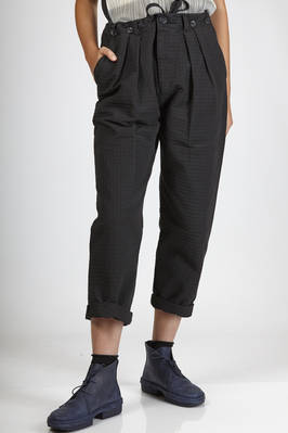 wide trousers in heavy cotton seersuker  - 293