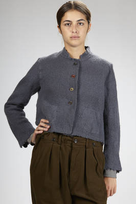 short jacket in surplice wool with buttons of different colors  - 293