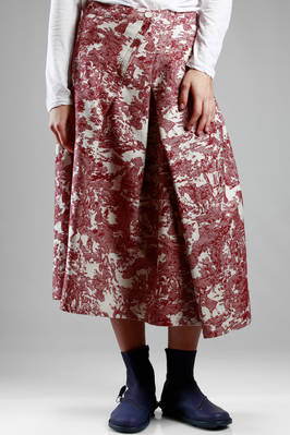 longuette skirt in jacquard cotton  - 121