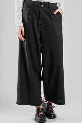 wide trousers in cotton doubled voile  - 121