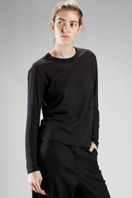 basic t-shirt in light 'supima' cotton jersey  - 121