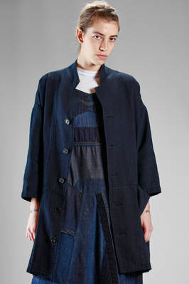 overcoat in very smooth cotton denim  - 327