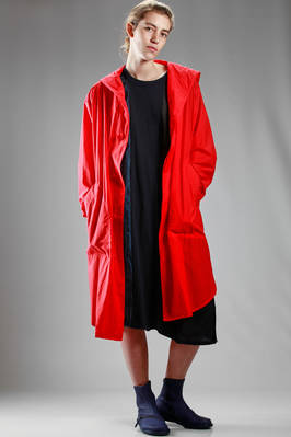 raincoat, long shirt alike, in water repellent nylon ovo leather  - 327