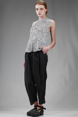 hip length top in polyester plissé with vertical narrow line with 'pink granite' effect print - PLEATS PLEASE Issey Miyake