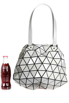 spherical bag made of triangular polished PVC plates repeated through an origami calculation on a polyester base  - 237