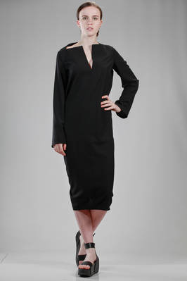 longuette dress in light viscose and wool cloth  - 120