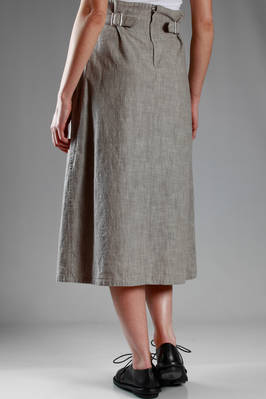 longuette skirt in washed cotton cloth with melange denim effect - Y'S Yohji Yamamoto