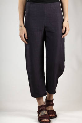 ankle length trousers in wrinkled linen cloth  - 277