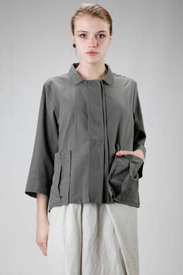 hip length shirt jacket in cotton muslin  - 292