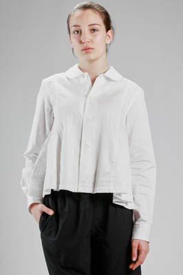 hip length shirt in washed cotton poplin  - 157