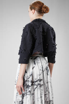 short jacket in light polyester cloth with big flowers laser carved - COMME des GARÇONS - COMME des GARÇONS