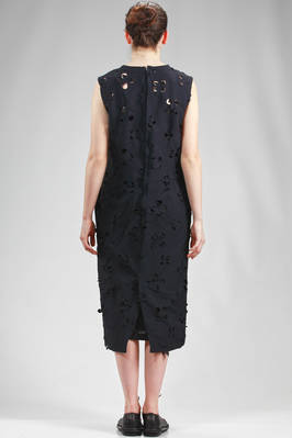 longuette sheath dress in light polyester cloth with big flowers laser carved - COMME des GARÇONS - COMME des GARÇONS