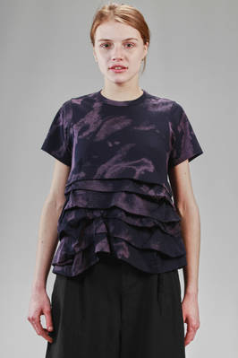 hip length t-shirt in cotton jersey with camouflage pattern  - 48