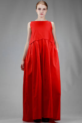 long dress in stiffener cotton cloth  - 195