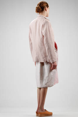 hip length jacket in embossed and iridescent linen cloth - DANIELA GREGIS