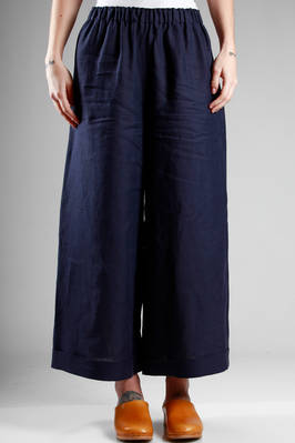 wide trousers in linen cloth  - 195