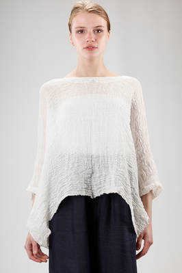 long and wide shirt in embossed and washed linen gauze  - 195