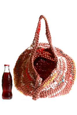 6f62a24a2e9 DANIELA GREGIS - Bucket Shaped Bag Of Medium Dimensions Crochet Build With Multicolor  Linen And Cotton Bands :: Ivo Milan