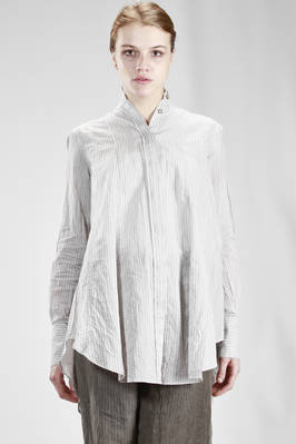 wide and long shirt in silk and cotton cloth with 'men's shirt' lines  - 161