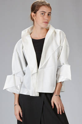 132 5. Issey Miyake – wide jacket with origami algorithmic development of tone on tone recycled polyester cloth  - 47